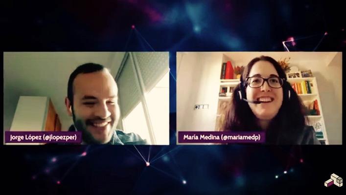 Jorge López, dando paso a María Medina, experta en Machine Learning